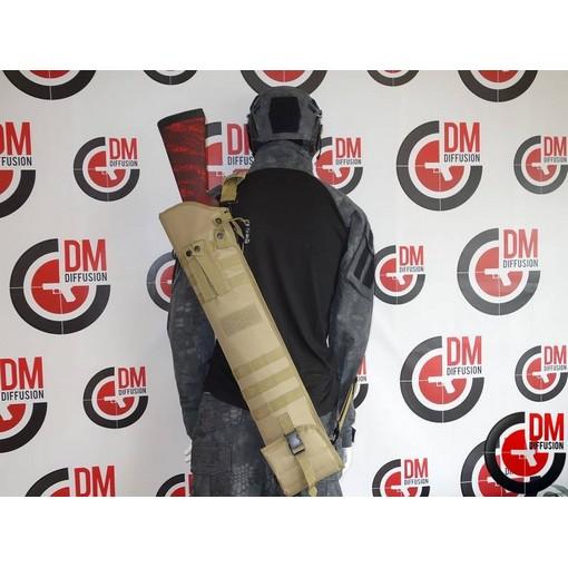 Housse transport fusil à pompe Airsoft tan