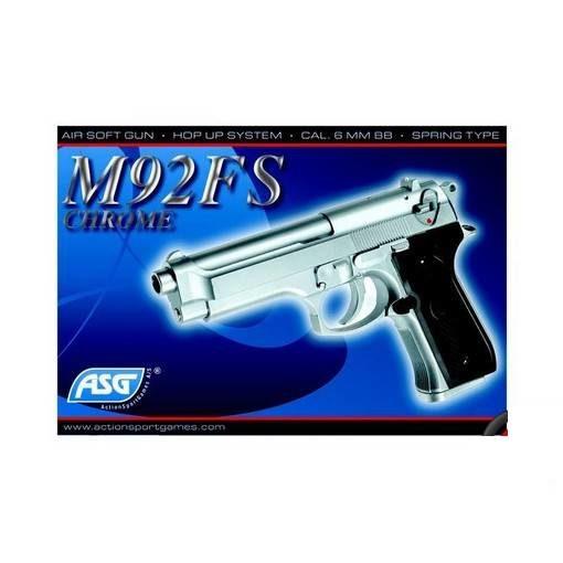 M92FS Spring chromé Airsoft