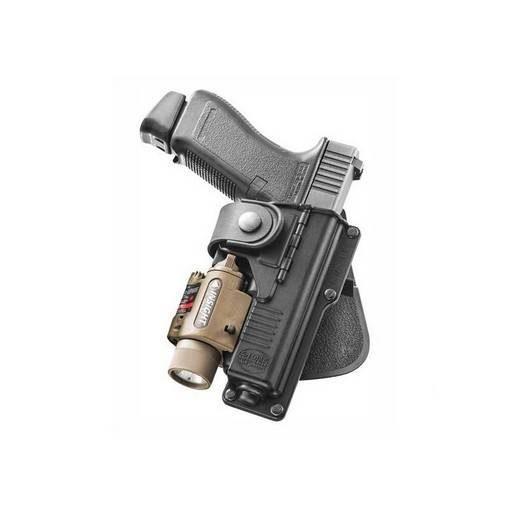 Paddle rotatif Glock 17 / 19 + lampe tactique