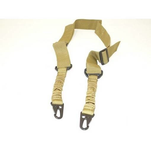 Sangle 2 points Airsoft élastique Tan