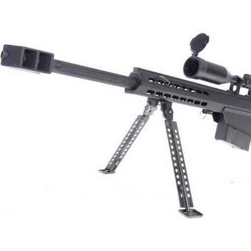 Sniper M82A1 AEG metal Noir avec bipied et lunette
