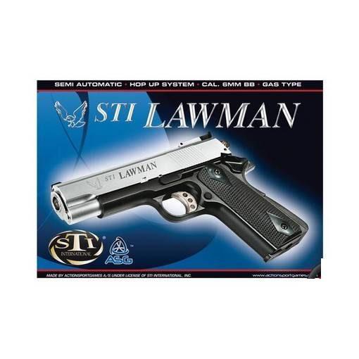 STI Lawman Airsoft Bicolore (silver / noir) GNB