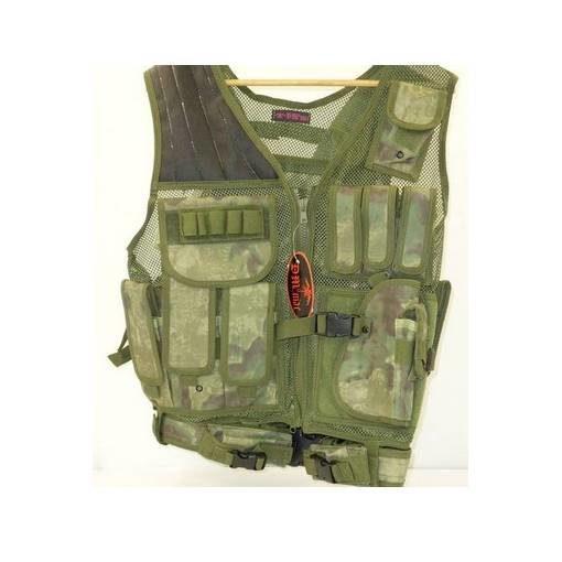 Veste tactique Airsoft 8 poches holster + ceinturon
