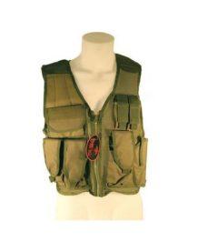 Veste tactique Airsoft Olive 8 poches holster + ceinturon