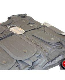 Veste tactique Airsoft SWAT Noire avec Holster
