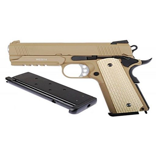 WE Desert Warrior 4.3 Tan avec rail GBB