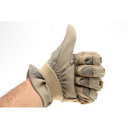 gants tactiques airsoft cuir tan coque