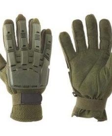 gants tactiques airsoft olive avec coque