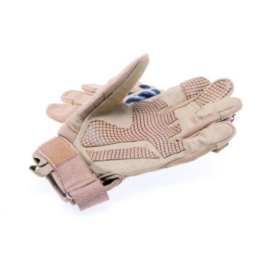 gants tactiques airsoft renforces desert tan