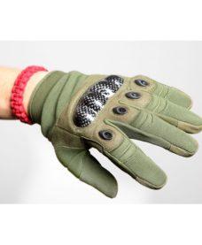 gants tactiques airsoft renforces olive