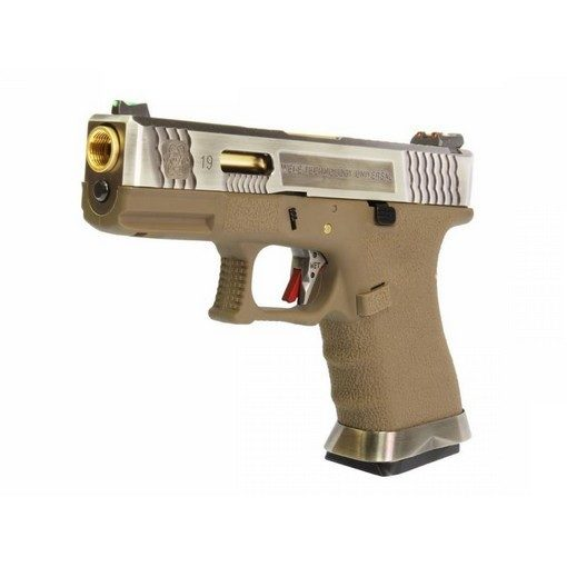 S19 G-Force T4 WE Silver/Or/Tan GBB