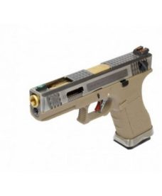 WE G18C Gforce T4 Argent Or Tan GBB