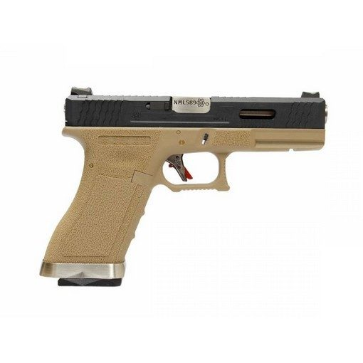 WE S17 G-Force T2 BK/Silver/Tan GBB
