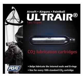5 capsules de CO2 lubrifiantes Airsoft ASG