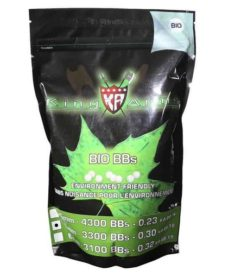 Billes bio Airsoft 0.30g Blanches King Arms 1Kg