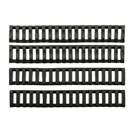 Couvre Rail Type Ladder Gomme x4 Noir