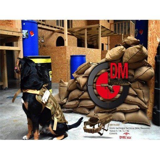 DMoniac Veste tactique tactical Dog Training Taille XL Coyote