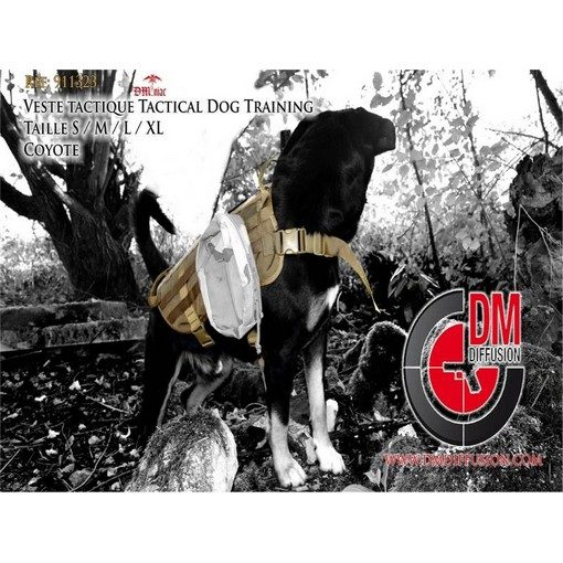 DMoniac Veste tactique tactical Dog Training Taille XL Coyote