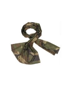 Echarpe airsoft filet Mesh Woodland 190 x 50 cm