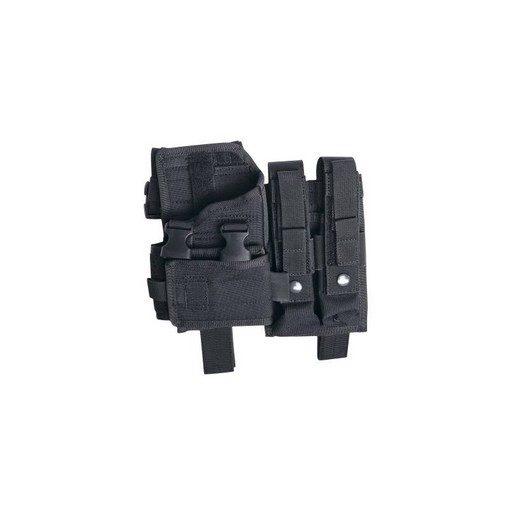 Holster MP5 de cuisse Airsoft ajustable avec poches