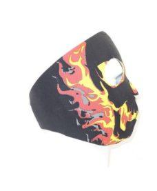 Masque néoprène Airsoft intégral Fire skull
