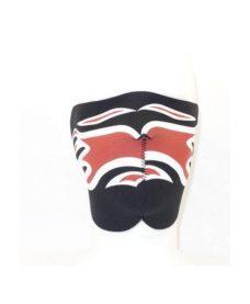 Masque néopréne demi Flammes noir /rouge
