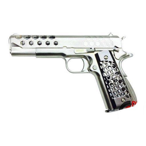 Pistolet 1911 WE Hex Cut Chrome GBB