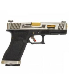 Pistolet WE S17 G-Force T3 Silver/Or/Noir GBB