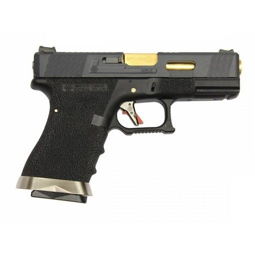 Pistolet WE S19 G-Force T1 Noir/Or/Noir GBB