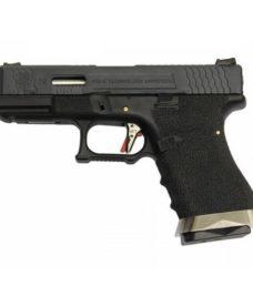 Pistolet WE S19 G-Force T5 Noir/Argent/Noir GBB