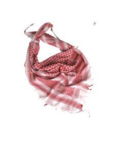 Shemagh Echarpe bandana Blanc/Rouge Airsoft