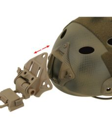 Support NVG low profile pour casque Noir