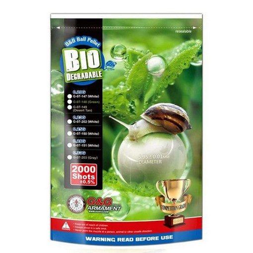 Billes bio Airsoft 0.33g grises G&G x2000