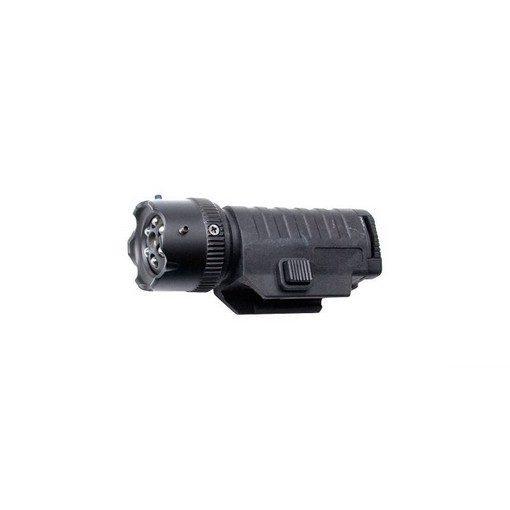 Lampe tactique airsoft 6 leds + laser réglable