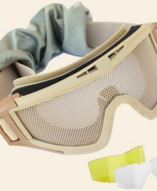 Masque Airsoft Grillage tan + 2 ecrans Umarex
