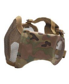 Masque Stalker airsoft Métal + grille oreilles Multicam