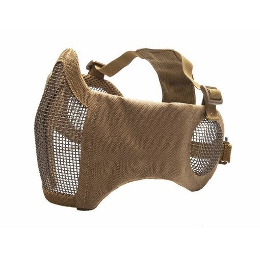 Masque Stalker airsoft Métal + grille oreilles tan