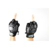 Mitaines Cuir airsoft avec coque taille S