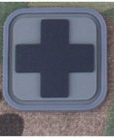 Patch Medic Square PVC Velcro Gris Noir