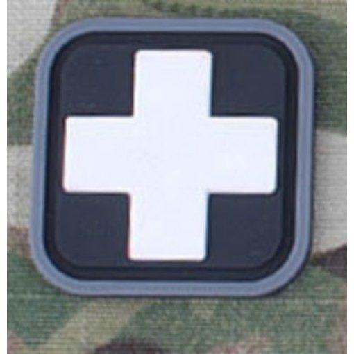 Patch Medic Square PVC Velcro Noir Blanc