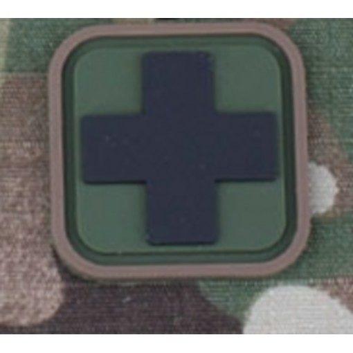 Patch Medic Square PVC Velcro Olive Noir