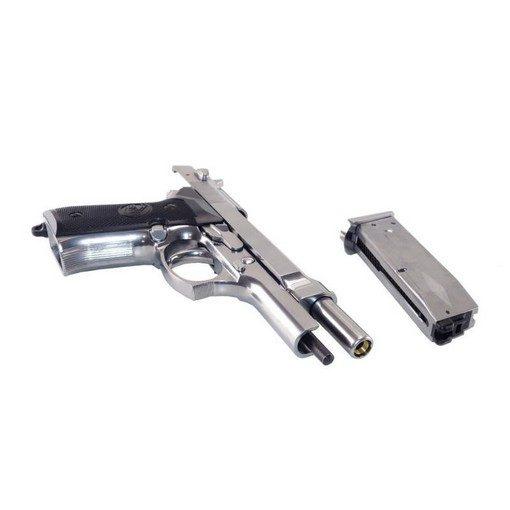 Pistolet M92 Chrome GBB B&W