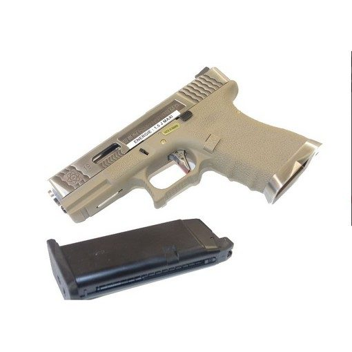 Pistolet WE G18C Gen 4 GBB Tan