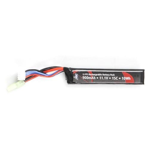 Batterie LiPo 11,1v / 900mAh 15C stick ASG