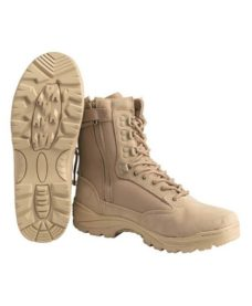 Chaussures / rangers airsoft tan zip T43/10