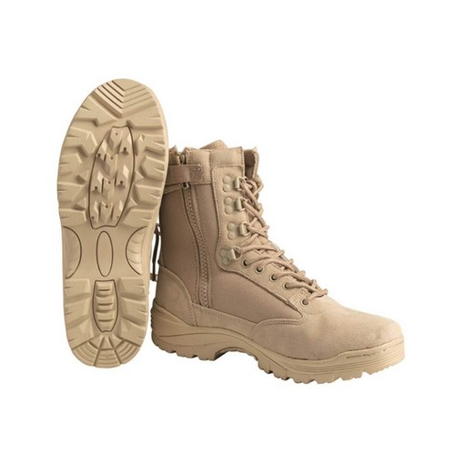Chaussures / rangers airsoft tan zip T45/12