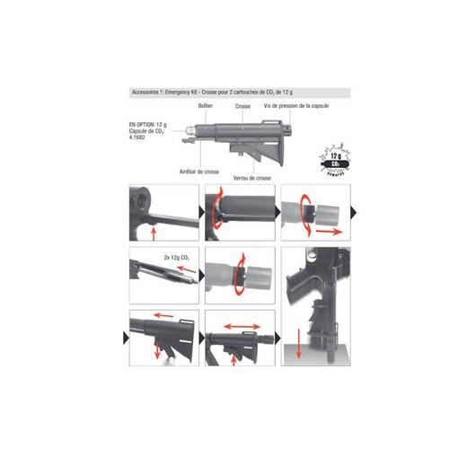 Crosse Emergency Kit pour SG68 avec adaptateur CO2 2x12g