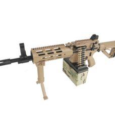 Fusil CM16 AEG LMG airsoft tan