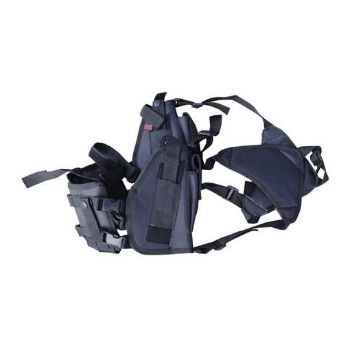 Holster horizontal double noir porte-chargeur