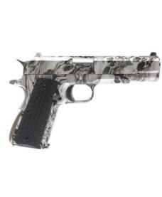 Pistolet 1911 double canon skull GBB